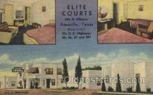 MTL001211 - Elite Curts, Amarillo, Texas, USA Motel Hotel Postcard Postcards