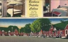 MTL001227 - Barbara Fritchie Cabins, Frederick, Maryland, USA Motel Hotel Postcard Postcards