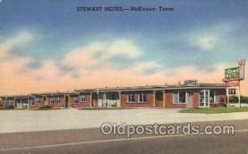 MTL001261 - Stewart Motel, McKinney, Texas, USA Motel Hotel Postcard Postcards