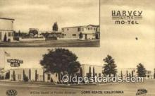 MTL001270 - Harvey Line Motel, Long Beach, CA, USA Motel Hotel Postcard Post Card Old Vintage Antique