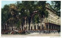 MTL001286 - United States Hotel, Saratoga Springs, NY, USA Motel Hotel Postcard Post Card Old Vintage Antique