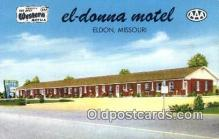 MTL001290 - El-Donna Motel, Eldon, MO, USA Motel Hotel Postcard Post Card Old Vintage Antique
