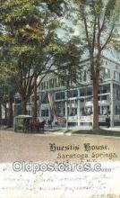 MTL001305 - Huestis House, Saratoga Springs, NY, USA Motel Hotel Postcard Post Card Old Vintage Antique