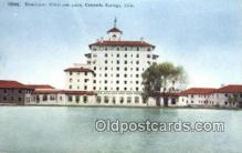 MTL001306 - Broadmoor Hotel & Lake, Co Springs, CO, USA Motel Hotel Postcard Post Card Old Vintage Antique