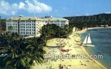 MTL001343 - Moana Hotel, Beach at Waikiki, Hawaii USA Motel Hotel Postcard Post Card Old Vintage Antique