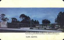 MTL001347 - Tops Motel, Miami, FL, USA Motel Hotel Postcard Post Card Old Vintage Antique