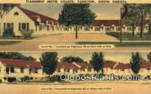 MTL001355 - Flamming Motel Courts, Yankton, SD, USA Motel Hotel Postcard Post Card Old Vintage Antique
