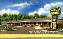 MTL001362 - Anchor Motel, Niagara Falls, NY, USA Motel Hotel Postcard Post Card Old Vintage Antique