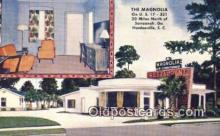MTL001368 - The Magnolia, Hardeeville, SC, USA Motel Hotel Postcard Post Card Old Vintage Antique