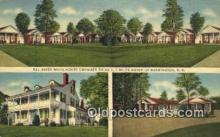 MTL001369 - Del Haven White House Cottages, Berwyn, MD, USA Motel Hotel Postcard Post Card Old Vintage Antique