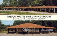 MTL001390 - Tindol Motel & Dining Room, Dublin, GA, USA Motel Hotel Postcard Post Card Old Vintage Antique