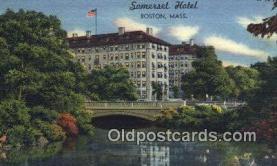 MTL001407 - Somerset Hotel, Boston, MA, USA Motel Hotel Postcard Post Card Old Vintage Antique