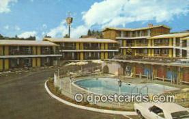 MTL001409 - Ponderosa Inn, Redding, CA, USA Motel Hotel Postcard Post Card Old Vintage Antique