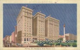 MTL001416 - Hotel St. Francis, San Francisco, USA Motel Hotel Postcard Post Card Old Vintage Antique