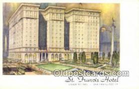 MTL001417 - St. Francis Hotel, San Francisco, USA Motel Hotel Postcard Post Card Old Vintage Antique