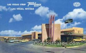 MTL001429 - Las Vegas Strip Travelodge, Las Vegas, NV, USA Motel Hotel Postcard Post Card Old Vintage Antique