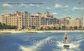 MTL001440 - Hollywood Beach Hotel, FL, USA Motel Hotel Postcard Post Card Old Vintage Antique