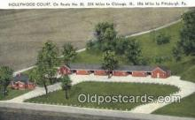 MTL001447 - Hollywood Court, Mansfield, OH, USA Motel Hotel Postcard Post Card Old Vintage Antique