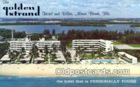 MTL001463 - Golden Strand Hotel & Villas, Miami Beach, FL, USA Motel Hotel Postcard Post Card Old Vintage Antique