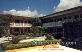 MTL001465 - Sea Patio Apt-Motel, Surfside, FL, USA Motel Hotel Postcard Post Card Old Vintage Antique