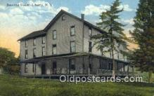 MTL001476 - Summit House, Liberty, NY, USA Motel Hotel Postcard Post Card Old Vintage Antique