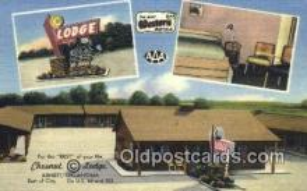 MTL001483 - Chesnut Lodge, Arnett, OK, USA Motel Hotel Postcard Post Card Old Vintage Antique
