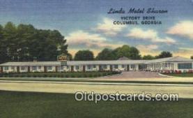 MTL001500 - Linda Motel Sharon, Columbus, GA, USA Motel Hotel Postcard Post Card Old Vintage Antique