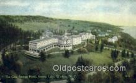 MTL001502 - The Glen Springs Hotel, Watkins, NY, USA Motel Hotel Postcard Post Card Old Vintage Antique