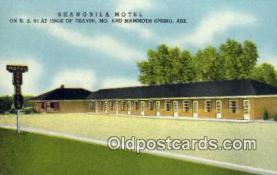 MTL001538 - Shangrila Motel, Mammoth Spring, AR, USA Motel Hotel Postcard Post Card Old Vintage Antique