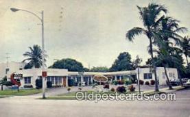 MTL001542 - Lillie's Motel, West Palm Beach, FL, USA Motel Hotel Postcard Post Card Old Vintage Antique