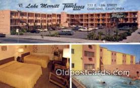 MTL001543 - Lake Merritt Travelodge, Oakland, CA, USA Motel Hotel Postcard Post Card Old Vintage Antique