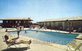 MTL001544 - Landmark Motel, Long Beach, CA, USA Motel Hotel Postcard Post Card Old Vintage Antique