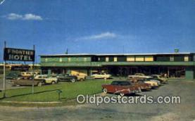 MTL001550 - Frontier Hotel, McAllen, TX, USA Motel Hotel Postcard Post Card Old Vintage Antique