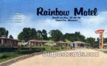 MTL001557 - Rainbow Motel, Cassville, MO, USA Motel Hotel Postcard Post Card Old Vintage Antique