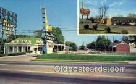 MTL001559 - Alamo Plaza Hotel Courts, Nashville, TN. USA Motel Hotel Postcard Post Card Old Vintage Antique
