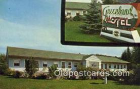 MTL001571 - Greenland Motel, Munising, MI, USA Motel Hotel Postcard Post Card Old Vintage Antique