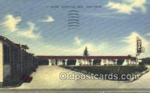 MTL001575 - L Motel, Mountain View, CA, USA Motel Hotel Postcard Post Card Old Vintage Antique