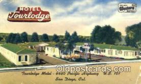 MTL001577 - Tourlodge Motel, San Diego, CA, USA Motel Hotel Postcard Post Card Old Vintage Antique