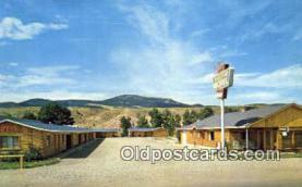 MTL001578 - Trails End Motel, Dubois, Wyoming, USA Motel Hotel Postcard Post Card Old Vintage Antique