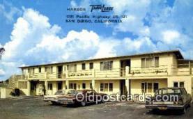 MTL001583 - Harbor Travelodge, San Diego, CA, USA Motel Hotel Postcard Post Card Old Vintage Antique