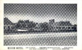 MTL001586 - Mizzou Motel, Columbia, MO, USA Motel Hotel Postcard Post Card Old Vintage Antique