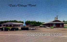 MTL001589 - Veit's Village Motel, Jefferson City, MO, USA Motel Hotel Postcard Post Card Old Vintage Antique