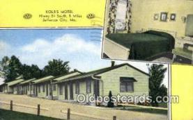 MTL001592 - Kolb's Motel, Jefferson City, MO, USA Motel Hotel Postcard Post Card Old Vintage Antique