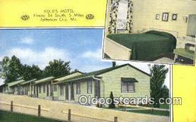MTL001593 - Kolb's Motel, Jefferson City, MO, USA Motel Hotel Postcard Post Card Old Vintage Antique