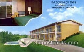 MTL001600 - Razorback Inn, Hardy, AK, USA Motel Hotel Postcard Post Card Old Vintage Antique