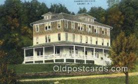 MTL001613 - Washington House, Liberty, NY, USA Motel Hotel Postcard Post Card Old Vintage Antique