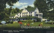 MTL001617 - Evergreen Beach Hotel, Ephraim, WI, USA Motel Hotel Postcard Post Card Old Vintage Antique