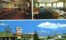 MTL001662 - Crown Motel, Milan, OH, USA Motel Hotel Postcard Post Card Old Vintage Antique