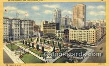 MTL001701 - Hotels St. Francis, Union Square, San Francisco, USA Motel Hotel Postcard Post Card Old Vintage Antique