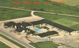 MTL001737 - Oasis Motor Hotel, Bay City, TX, USA Motel Hotel Postcard Post Card Old Vintage Antique